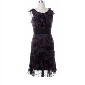 NWT Milly Gray Black Print Dress 100% Silk 6 $495